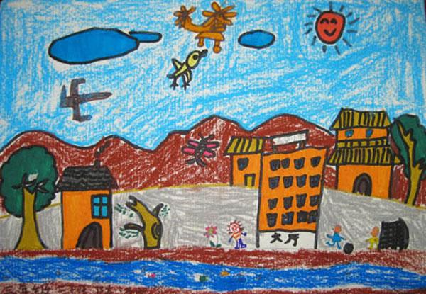 喜迎十九大儿童图画分享展示