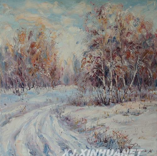 阿勒泰油画家阿依恒和他的白桦林