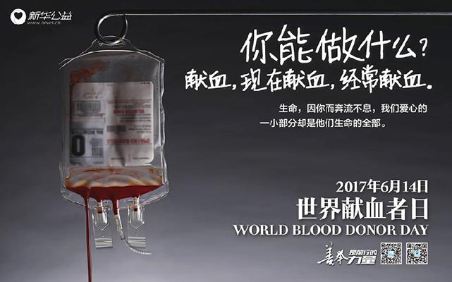 世界獻血日 你能做什麼?