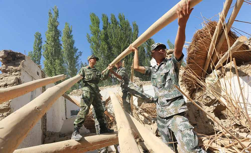 新疆精河縣地震救援工作開展有序