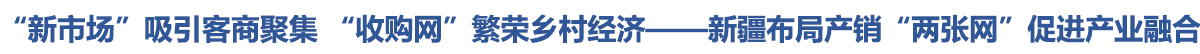 """""""新市場""""吸引客商聚集 """"收購網""""繁榮鄉村經濟——新疆布局産銷""""兩張網""""促進産業融合"""